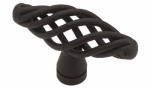 Brainerd Mfg Co/Liberty Hdw PN0528-FB-C Cabinet Knob, Small Birdcage, Flat Black, 2-In.