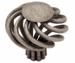 Brainerd Mfg Co/Liberty Hdw PN9010-AP-C Cabinet Knob, Large Wire Swirl, Pewter, 1-5/8-In.