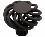 Brainerd Mfg Co/Liberty Hdw PN9011-FB-C Cabinet Knob, Small Wire Swirl, Flat Black, 1.25-In.