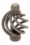 Brainerd Mfg Co/Liberty Hdw PN9013-AP-C Cabinet Knob, Small Wire Swirl With Ball Top, Pewter, 1-3/8-In.