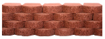 "Oldcastle 16202245 8"" RED/Char Wall Block"