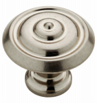 Brainerd Mfg Co/Liberty Hdw P28194-475-C Cabinet Knob, Abella Ring, Nickel, 1.25-In.
