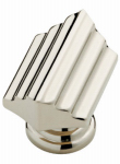 Brainerd Mfg Co/Liberty Hdw P28015-PN-C Cabinet Knob, Julian Step, Polished Nickel, 1.5-In.