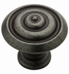 Brainerd Mfg Co/Liberty Hdw P28194-SI-C Cabinet Knob, Julian Ring, Soft Iron Finish, 1.25-In.