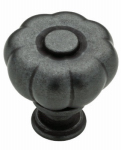 Brainerd Mfg Co/Liberty Hdw P28195-SI-C Cabinet Knob, Abella Fluted, Soft Iron Finish, 1.25-In.