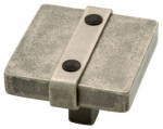 Brainerd Mfg Co/Liberty Hdw 65177PI Cabinet Knob, Iron Craft Square, Tumbled Pewter, 1.5-In.