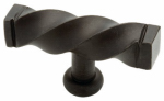 Brainerd Mfg Co/Liberty Hdw 65213WI Cabinet Knob, Iron Craft Twist, Wrought Iron, 2.5-In.