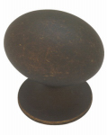 Brainerd Mfg Co/Liberty Hdw PN0393-OB-C Cabinet Knob, Large Football, Distressed Bronze, 1-3/8-In.