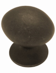 Brainerd Mfg Co/Liberty Hdw PN0395-OB-C Cabinet Knob, Medium Football, Distressed Bronze, 1-1/8-In.