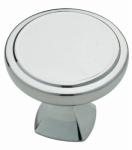 Brainerd Mfg Co/Liberty Hdw P28013-PC-C Cabinet Knob, Ashtyn Round, Polished Chrome, 1.25-In.