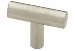 Brainerd Mfg Co/Liberty Hdw P02140-SS-C Cabinet Knob, Flat End, Stainless Steel, 1-5/8-In.