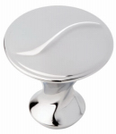 Brainerd Mfg Co/Liberty Hdw P18006C-PC-C Cabinet Knob, Vuelo, Polished Chrome, 1-1/8-In.