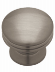 Brainerd Mfg Co/Liberty Hdw PN0830C-BNP-C Cabinet Knob, Wide Base, Brushed Nickel Plate, 1-3/15-In.