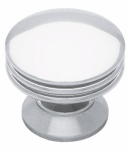 Brainerd Mfg Co/Liberty Hdw PN0830C-PC-C Cabinet Knob, Polished Chrome, 1-3/16-In.