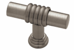 Brainerd Mfg Co/Liberty Hdw PN1040H-BNP-C Cabinet Knob, Ringed Bar, Brushed Nickel, 1-37/64-In.