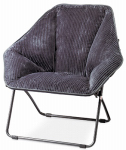 Zenithen Limited IC576S-TV06 Hexagon Dish Chair, Gray Fabric