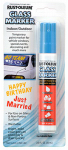Rust-Oleum 267965 Temporary Glass Marker, Blue, 2/3-oz.