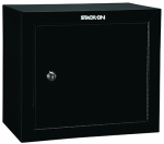 Stack On Products GCB-500 Steel Pistol / Ammo Gun Cabinet Safe, Black With Shelf