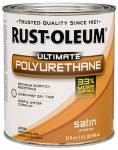 Rust-Oleum 260163 Ultimate Interior Polyurethane, Satin, Qt.