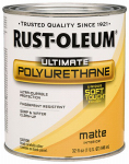 Rust-Oleum 260165 Ultimate Interior Polyurethane S oft Touch Matte Finish, Qt.