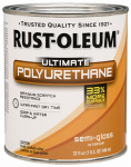 Rust-Oleum 260164 Ultimate Interior Polyurethane, Semi Gloss, 1-Qt.