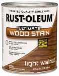 Rust-Oleum 260160 Ultimate Interior Wood Stain, Light Walnut, Qt.