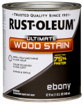 Rust-Oleum 271108 Ultimate Interior Wood Stain, Ebony, Qt.