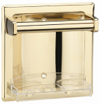 Homewerks Worldwide 180817 Recessed Soap Holder, Polished Brass