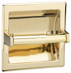 Homewerks Worldwide 180819 Recessed Tissue Paper Holder, Polished Brass