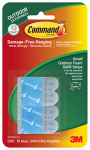 3M 17022AW-ES Hook Strip Refills, Outdoor, Small, Foam, 16-Pk.