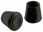 Shepherd Hdwe Prod 9226 Black Rubber Leg Tip, 1.5-In., 2-Pack
