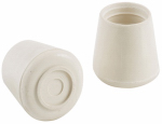 Shepherd Hdwe Prod 9225 Off-White Rubber Leg Tip, 1.5-In., 2-Pack