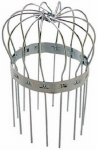 Peak Products America 1615 Gutter Downspout Strainer Basket, Round, Galvanized, 3-In.