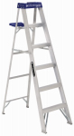 Louisville Ladder AS2106 6-Ft. Step Ladder, Aluminum, Type I, 250-Lb. Duty Rating