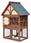Merry Products PH0010010800 Rabbit Hutch, 2-Story Tudor, 24 x 39 x 45-In.