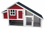 Merry Products PH0030010402 Chicken Coop, Red & White, 77 x 28.7 x 44.5-In.