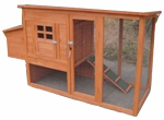 Merry Products PH0120010010 Homestead Chicken Coop, 62.3 x 23.9 x 32.3-In.