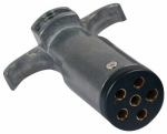 Uriah Products UE600004 Round Pin Trailer End Connector, 6-Way