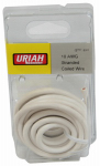 Uriah Products UA501020 Automotive Wire, Insulation, White, 10 AWG, 8-Ft.