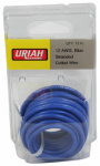 Uriah Products UA501210 Automotive Wire, Insulation, Blue, 12 AWG, 12-Ft.