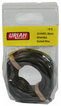 Uriah Products UA501270 Automotive Wire, Insulation, Black, 12 AWG, 12-Ft.