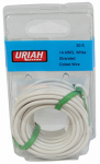 Uriah Products UA501420 Automotive Wire, Insulation, White, 14 AWG, 20-Ft.