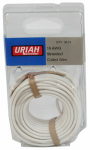 Uriah Products UA501620 Automotive Wire, Insulation, White, 16 AWG, 30-Ft.