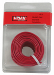 Uriah Products UA501850 Automotive Wire, Insulation, Red, 18 AWG, 40-Ft.
