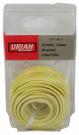 Uriah Products UA501840 Automotive Wire, Insulation, Yellow, 18 AWG, 40-Ft.