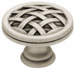 Brainerd Mfg Co/Liberty Hdw PN1513-BSP-C Cabinet Knob, Ribbon & Reed, Brushed Pewter, 1.5-In.