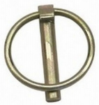 Double Hh Mfg 81922 Lynch Pin, Category 1, Yellow Zinc-Plated, 1/4 x 1-1/4-In.