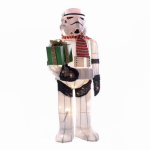 Kurt S Adler SW9144S Christmas Lawn Decoration, Lighted Star Wars Storm Trooper, Tinsel, 28-In.