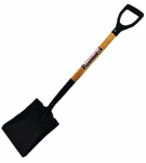 Seymour Mfg 49162 Shovel, Square Point, 30-In. Hardwood Handle, Steel D-Grip