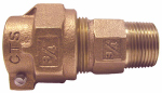 Legend Valve And Fitting 313-209NL Water Service Coupling, Lead-Free, CTS PAK x MIP, 3/4-In. x 1-In.